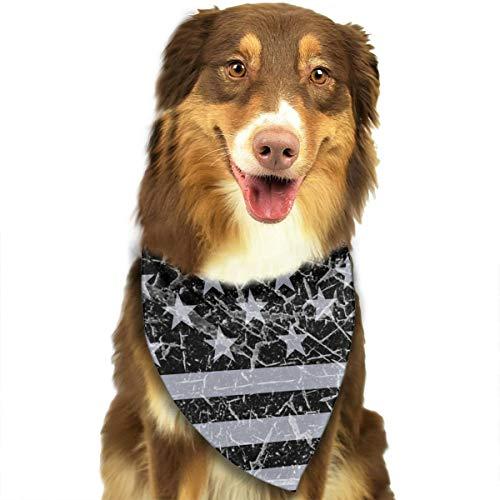 - MODREACH Dog Bandana Vintage USA Flag Retro American Flag Pet Triangle Scarf Festive Accessory for Puppies