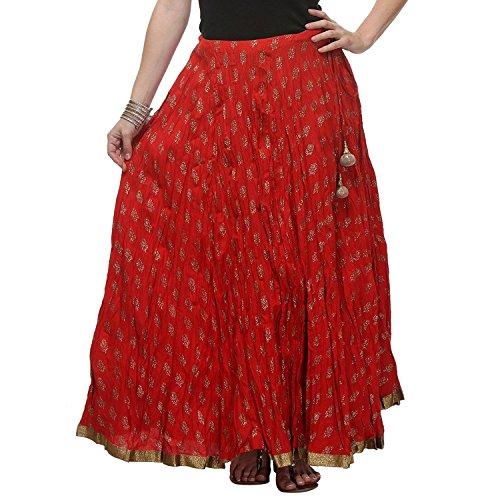 Wraparound Women's Export Mid Handicrfats Indian By Pezzava Length Skirt Calf FEgfqYA