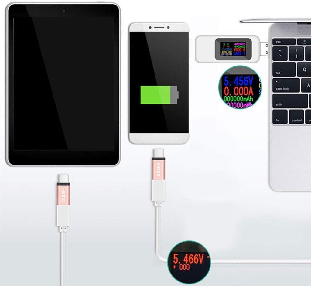 ARCELI KWS-MX18 10 in1 USB-Tester Digital LCD-Display Spannung Stromtester Leistungsmesser Zeitmessung Amperemeter USB-Ladeger/ät Tester Detektor Voltmeter Meter Wei/ß