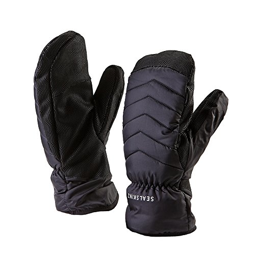 (SEALSKINZ Unisex Waterproof All Weather Lightweight Insulated Mitten, Black, One Size)