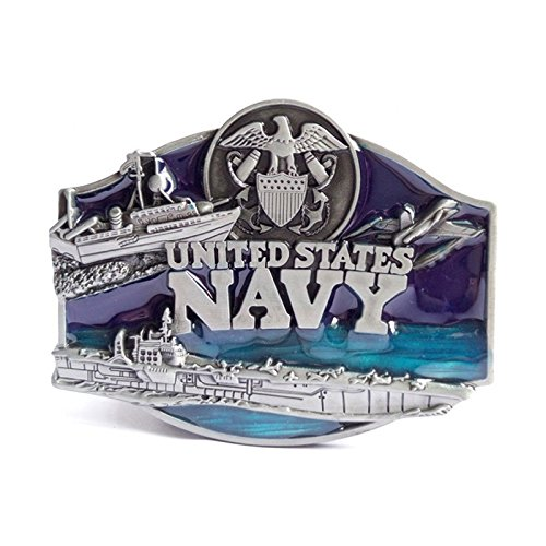 New American Navy Midshipmen Military Pewter Men's Belt Buckle Biker Motorcycle Native American Fashion Zinc Alloy Rings Suitable for 4cm Width Belt