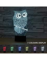 Coolzon 3D Led Illusion Lamp Touch Lamp 7 Colors Change Horse Night Light for Kids Home Decors Lights