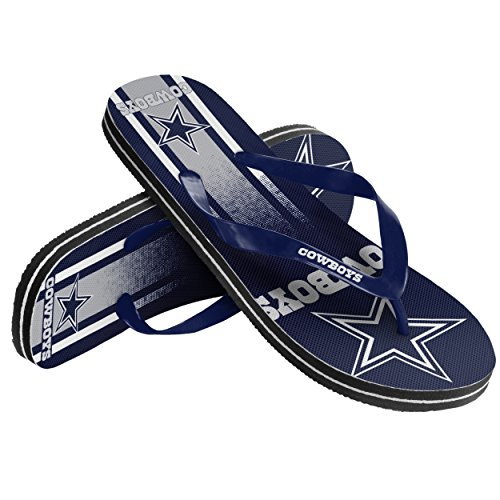 (Dallas Cowboys Unisex Gradient Big Logo Flip Flop Extra Small)