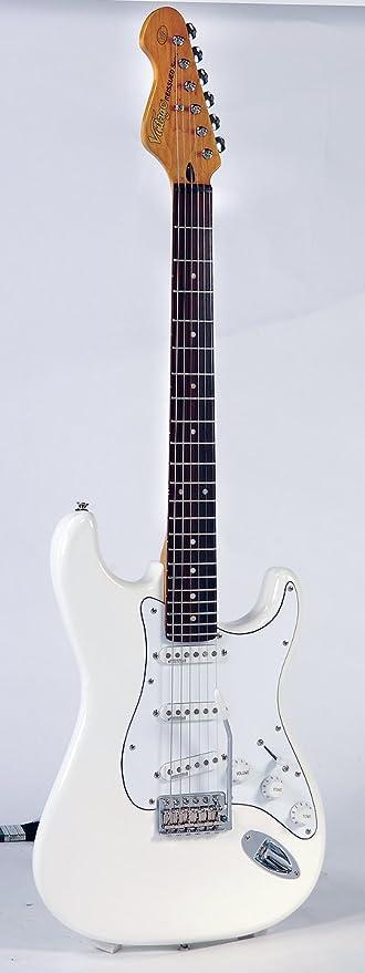 Vintage Guitars V6 Olympia White Fillmore - Guitarra eléctrica Stratocaster, color blanco