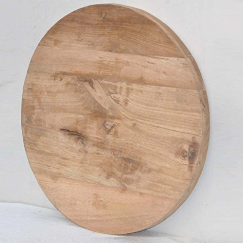 Antique Rustic Reclaimed Wood Round Table Top 24