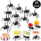 2 Dozen Reusable Ant Food Pick, Fruit Toothpicks Dessert Fork Cocktail Picks (24Pcs)-Animal Appetizer Forks for Snack Cake Dessert, For Kids& Party Accessories