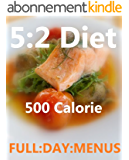 The 5:2 diet 500 Calorie Daily Menu's with photos (English Edition)