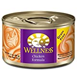 Wellness Complete Health Natural Canned Grain Free Wet Cat Food Chicken Pate 3-Ounce Can (Pack of 24)