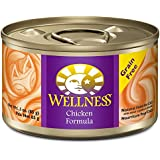 Wellness Complete Health Grain Free Chicken Natural Wet Canned Cat Food, 3-Ounce Can (Pack of 24)