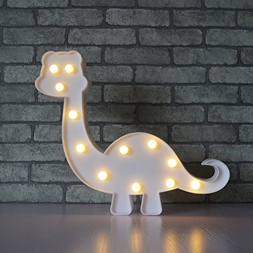 Cartoon Animal LED 3D Night Lamp Decorative Dinosaur Night Lamp Wall Lights with 12 LED Party Bedroom Home Decoration for Baby Boys Girls Birthday Holiday Gift by Alrens