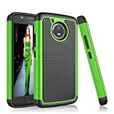Moto E4 Case, Tinysaturn [YSaturn Series] [Green] Hybrid Shock Absorbing Rubber Plastic Scratch-Proof Defender Bumper Rugged Hard [Drop Protection] Cover Case For Motorola Moto E 4th Generation For Sale