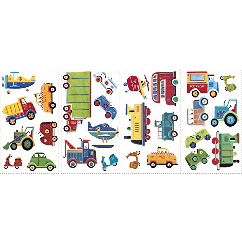 Amazon.com: RoomMates RMK1132SCS Transportation Peel U0026 Stick Wall Decals:  Home Improvement