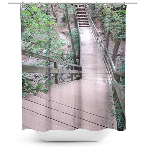 aper Outdoor - Fabric Printed Shower Curtain - Picture Photography Waterproof Mildew Resistant Hook Bathroom - Machine Washable 71x74 inch (C9587) ()