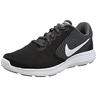 NIKE Women's Revolution 3 Running Shoe, Dark Grey/White/Black, 7 B(M) US