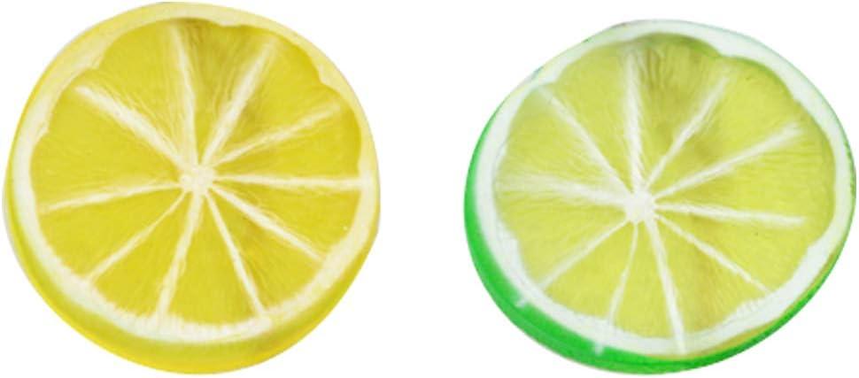 2 pezzi di cocomero rosso + 2 pezzetti di mela Simulazione Falso fetta frutta artificiale della casa di modello della decorazione del partito puntelli foto fetta di frutta Falso 4 confezioni