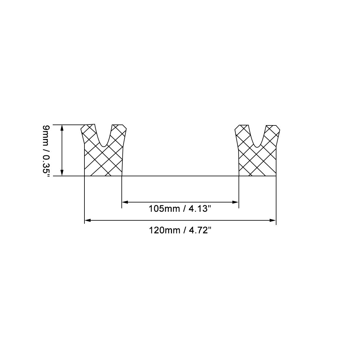Kolbenschaft USH O Ring /Ölabdichtung sourcing map Hydraulikdichtung 85 mm x 98 mm x 9 mm de