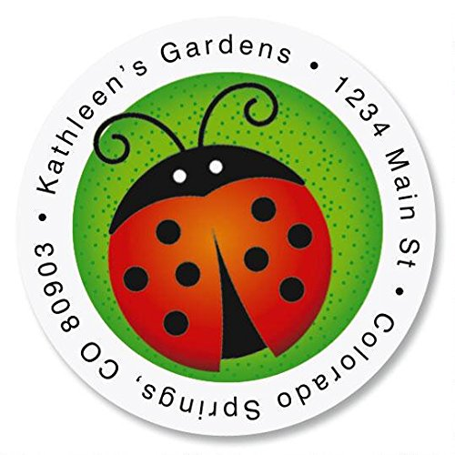 Round Ladybug - Ladybug Self-Adhesive, Flat-Sheet Round Address Labels