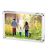 Boxalls Acrylic Photo Frames, Stand Magnets, Holds 6 X 8 Inches Pictures,10mm+10mm Thickness Transparent