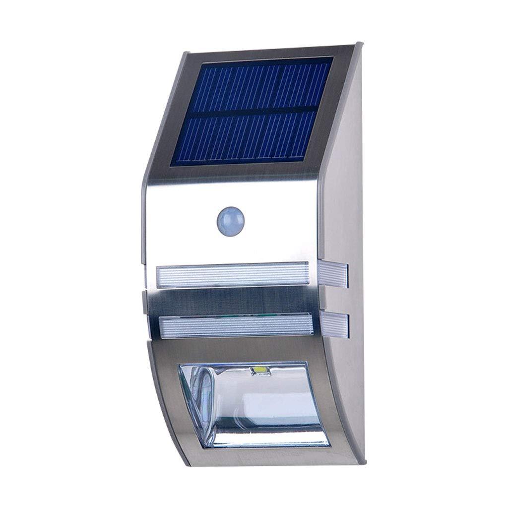 Applique solare,Casa Giardino Impermeabile Semplice Induzione del corpo umano Lampione elettricità zero insDimensionezione facile (colore   Luce calda)