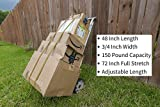 HeavyWeight Flat Bungee Cords 4 Pack with Bonus 4