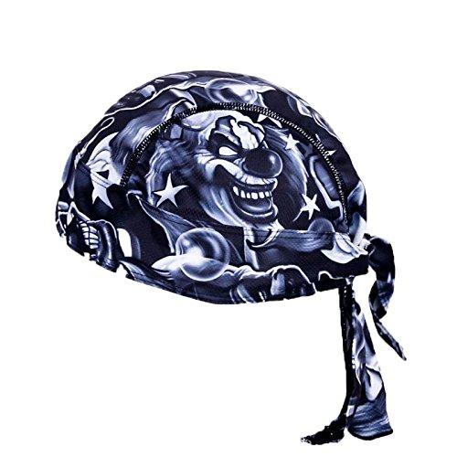 TOOGOO Outdoor Bicycle Sport Hats Bike Cycling Cap Headscarf Ride Equipment Riding Bandana Pirate Scarf Headband (Devil Clown)