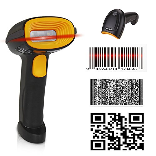 BQ-202 Supermarket Handheld Reader Mobile Payment Barcode Scanner Fast Reading 1D Barcode 2D QR PDF417 Data Matrix Code USB Cable Directly Use for Windows/Android POS System from BQ Scan Series