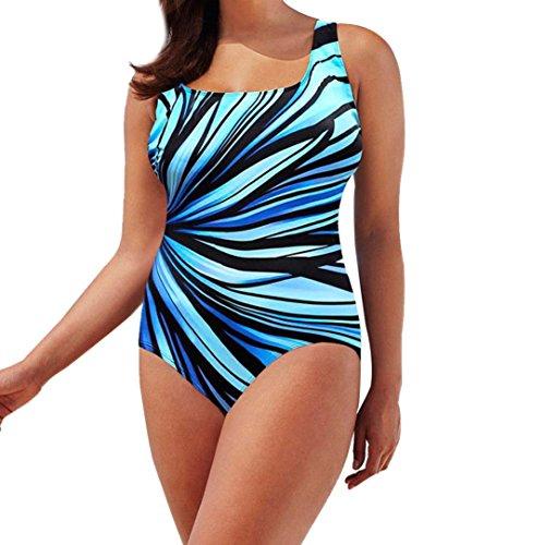 Amanod 2018 Womens Swimming Costume Padded Swimsuit Monokini Swimwear Push Up Bikini Sets ()