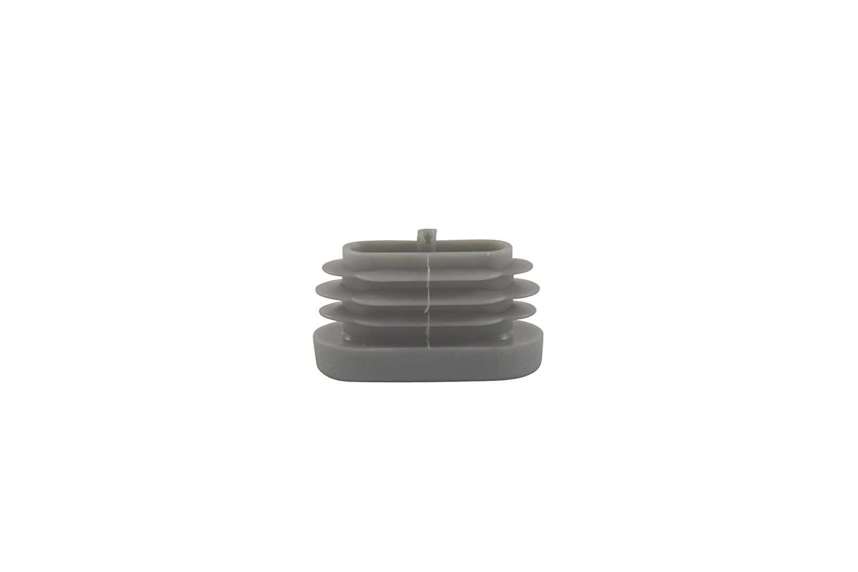 /Tapas para tubo ovalado gris/ Bien deslizante 4/x L/áminas Tap/ón ovalada 30/x 15/mm/ /rohrstopfen/ /Muebles