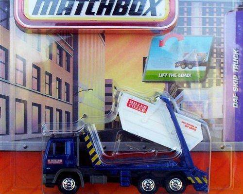 Skip Truck (Matchbox Miller Filler DAF Skip Truck Blue Real Working)