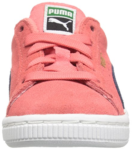 Puma High Risked Black White Suede Youths Trainers Porcelain Rose/Peacoat