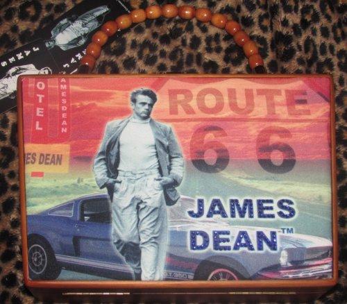 (James Dean Route 66 Wood Cigar Box Purse)