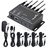 ir remote control repeater - DuaFire IR Repeater, Infrared Remote Control Extender IR Kit Blaster System Cable Box for TV and Home Entertainment Theater