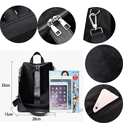 Handbag Head Pt1 Travel Backpack Bag Large Abuyall Removable Pu Faux Suede Shoulder Zipper Women Bag Shoulder Capacity Strap Messenger Double I4waHv0