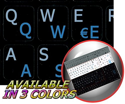 Spanish - English Notebook Non-Transparent Black Keyboard Stickers