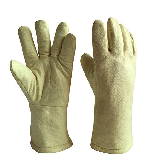 High temperature gloves 500 ? thermal insulation steel plant casting labor insurance products baking oven anti - hot safety protection by LIXIANG (Image #4)