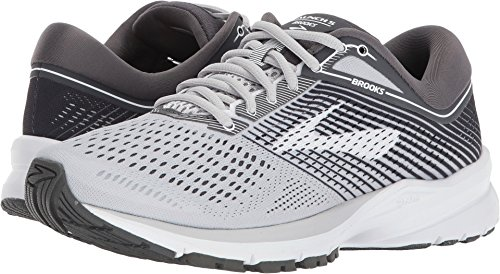 Brooks Women's Launch 5 Grey/Ebony/White 9 B -
