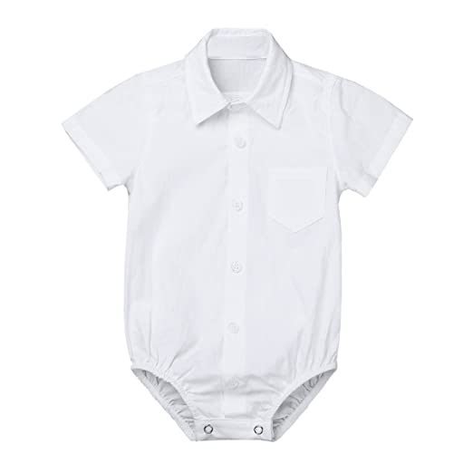 e08d11562 YiZYiF Baby Boys' Collar Long Sleeve Formal Dress Shirt Romper Bodysuit  Wedding Party Outfits Short