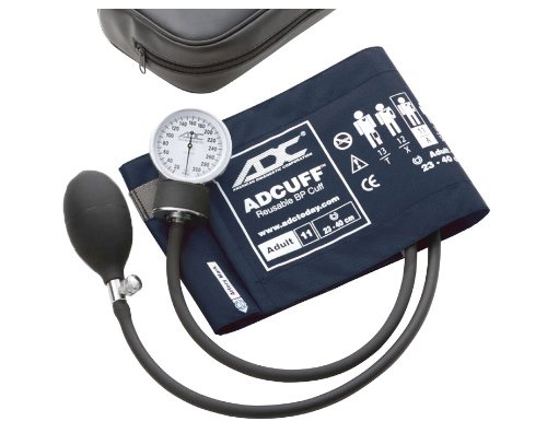 - ADC Prosphyg 760 Pocket Aneroid Sphygmomanometer with Adcuff Nylon Blood Pressure Cuff, Adult, Navy