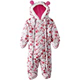 Pink Platinum Baby Girls Owl Microfleece Quilted Puffer Snow Pram Suit Bunting