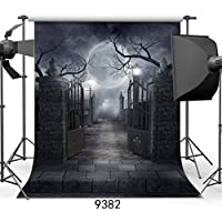 SJOLOON 10ft X 10ft Halloween Vinyl Photo Background Photography Backdrop Moon Night Backdrop Studio Prop JLT-9382