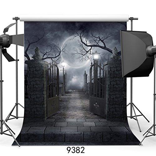 SJOLOON 10ft X 10ft Halloween Vinyl Photo Background Photography Backdrop Moon Night Backdrop Studio Prop JLT-9382