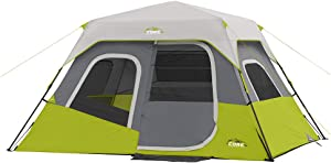 CORE 6 Person Instant Cabin Tent with Wall Organizer