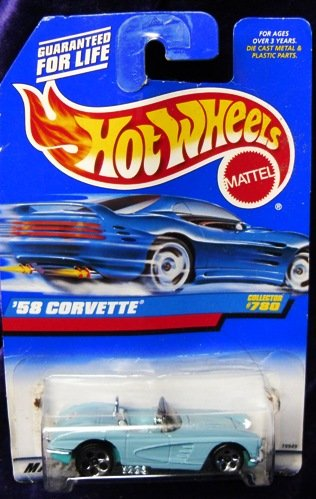 1958 Corvette Collectible Collector Car Mattel Hot Wheels
