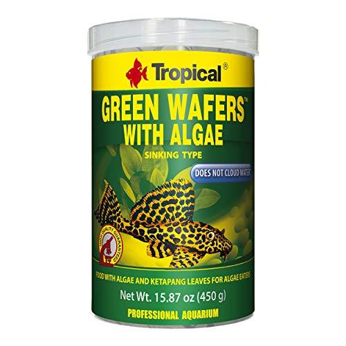 - Tropical USA Green Wafers with Algae Fish Food Tin, 450g