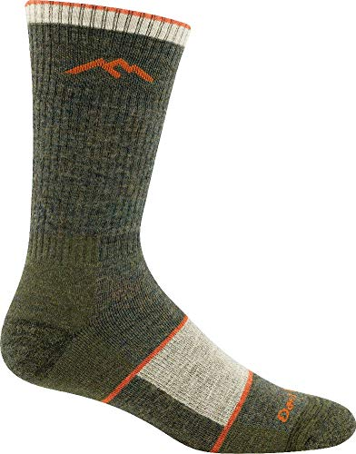 Darn Tough 1405 Men's Merino Wool Boot Sock Full Cushion, Olive, Large (10-12)