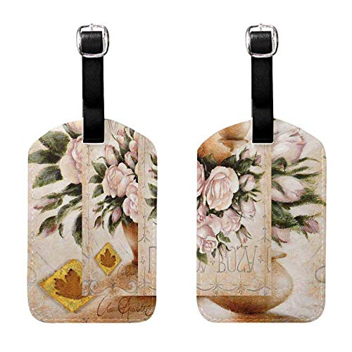 (Instrument Tag Bouquet of color peonies with candle watercolor. Birthday card-3 Baggage Suitcase 1 Piece )