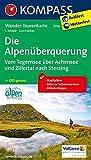 Die Alpenüberquerung - Vom Tegernsee über Achensee und Zillertal nach Sterzing: Wander-Tourenkarte. GPS-genau. 1:50000 (KOMPASS-Wander-Tourenkarten, Band 2556)