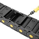 uxcell R55 25mm x 57mm Plastic Cable Wire Carrier