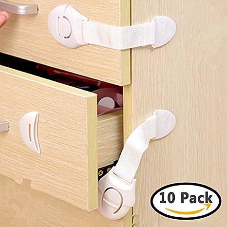 Bebé Niños Adhesivo cerraduras cerraduras puerta armario multiuso ...