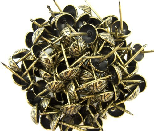 C.S. Osborne Overlap Nail Tacks Antique Brass 3/4